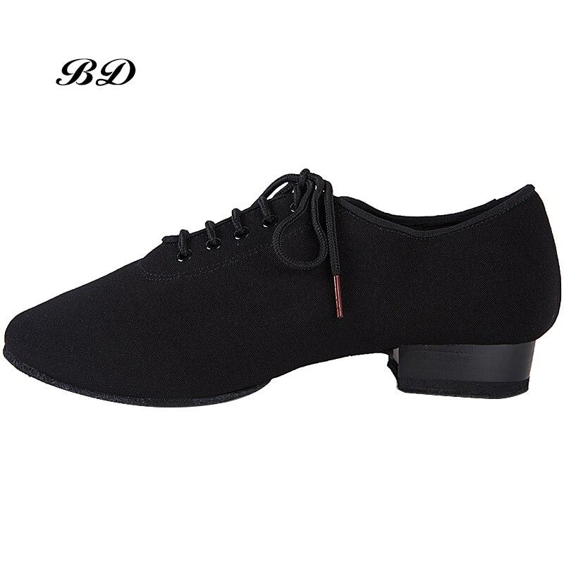 HOMMES CHAUSSURES Profession Chaussures De Danse Latine Chaussures De Salle de bal Moderne GB valse amitié Vachette Souple Prime Oxford Talon 2.5 cm BD 309