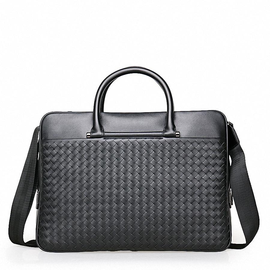 Anwalt 1943 Schulter Büro Handtaschen Aus Aktentaschen Messenger Echtem Taschen Tasche Männlichen Black Leder Handtasche Männer Li qTx16wHPt