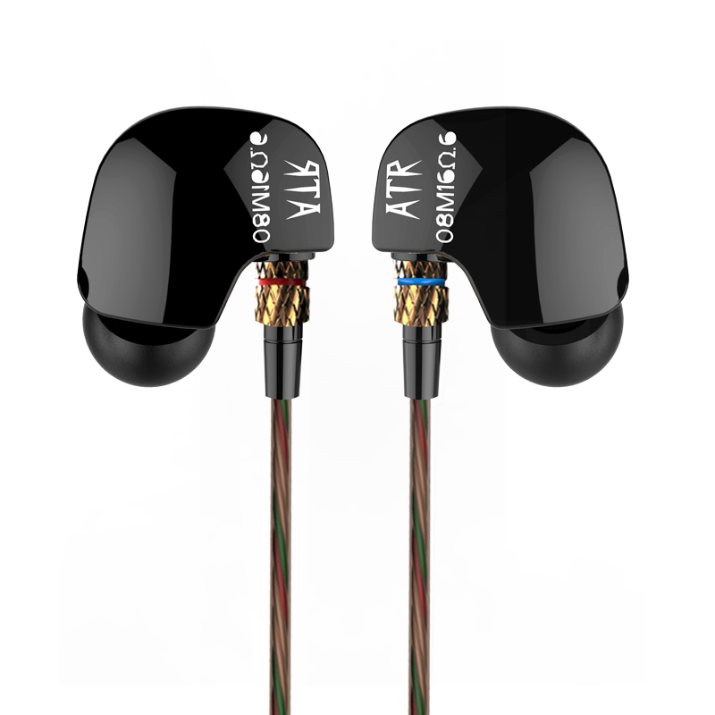 New Original KZ ATR In Ear Earphones HIFI KZ ATR Stereo Sport Earphone Super Bass Noise Canceling Hifi Earbuds With Mic phrodi pod600 original in ear bass earbud headphones hifi high quality noise canceling earphones with microphone for xiaomi ios