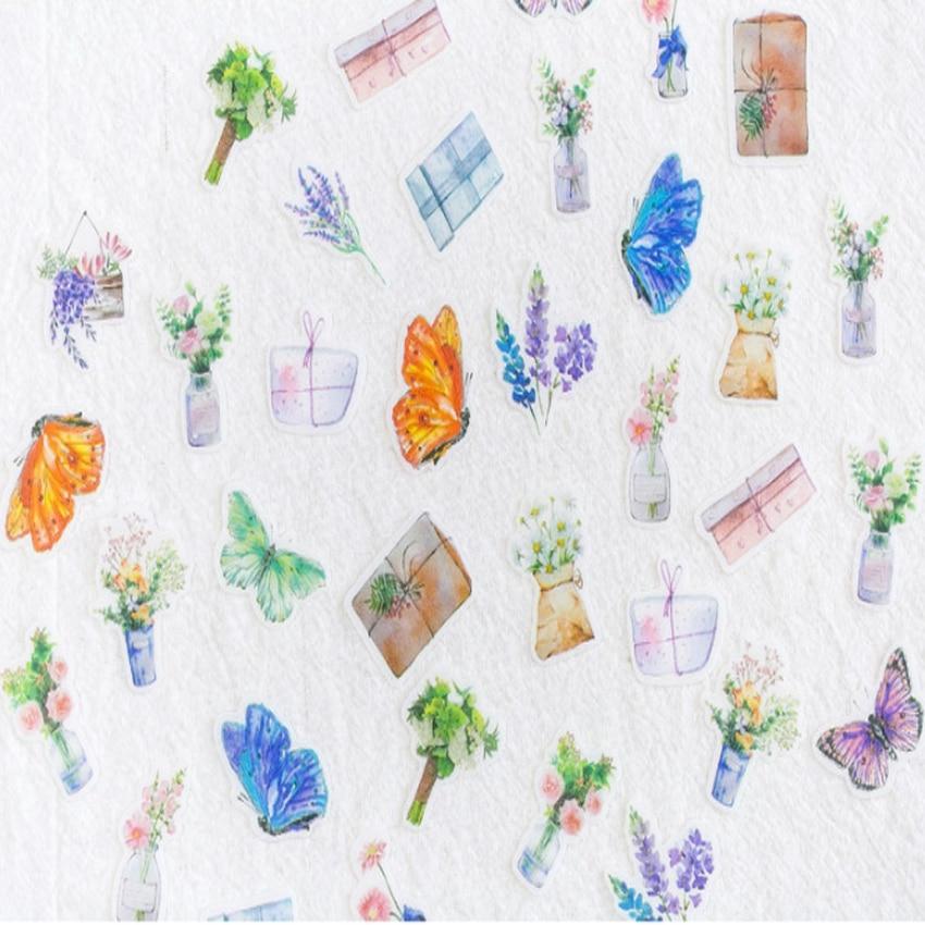 Купить с кэшбэком 40pcs/pack Cute Kawaii Cartoon Small Adhesive Decorative Scrapbooking Sticker Dairy Sticker Stationery School Office Supplies