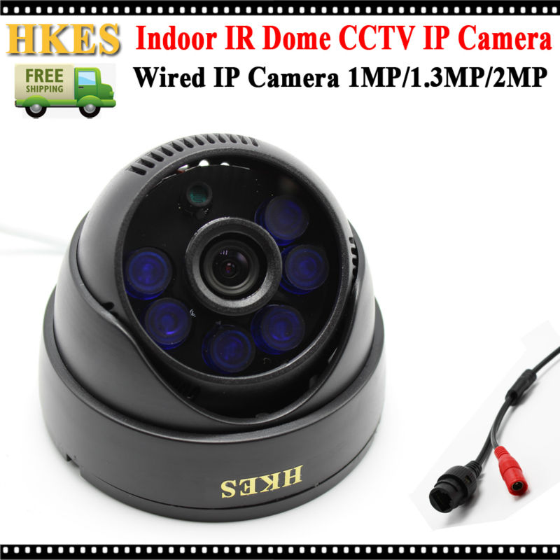 New HD 1080P Wired IP Camera 25fps ONVIF Network Indoor Security CCTV 6IR LEDs Night Vision Dome IP Cam 2MP