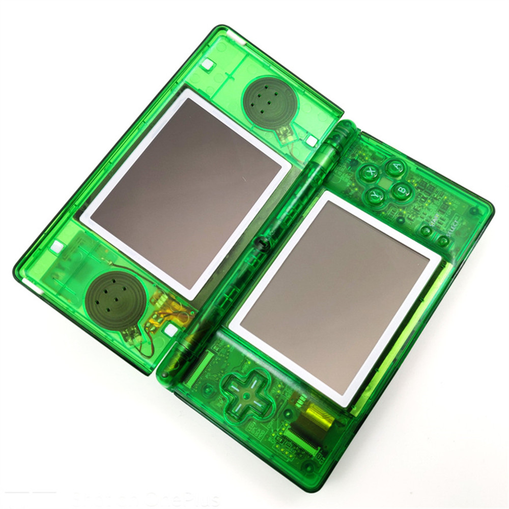Professionally Refurbished For Nintendo DS Lite Game Console For Nintendo DSL Video Game System - Clear Green Console