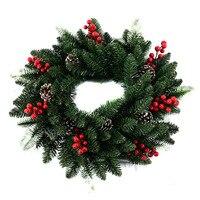Shopping Malls Layout Door Hanging Garlands Rattan Circle PE Material Wholesale Christmas Tree Pendant Wholesale