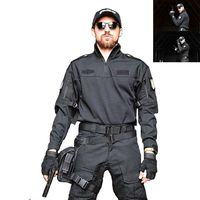 Breathable Tactical Army Combat Shirt Men Long Sleeve Camouflage Military T Shirt Multicam Paintball Airsoft Uniform Clothing