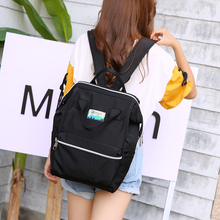 2019 New School Backpack for Teenage Girls Korean Fashion Nylon Mochila Feminine Big Women Solid Casual Female Bagpack