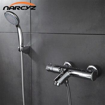 จัดส่งฟรีการออกแบบใหม่ขัดC Hromeอาบน้ำทองเหลืองT Hermostaticก๊อกน้ำฝักบัวอาบน้ำพร้อมมุมโค้งXT329
