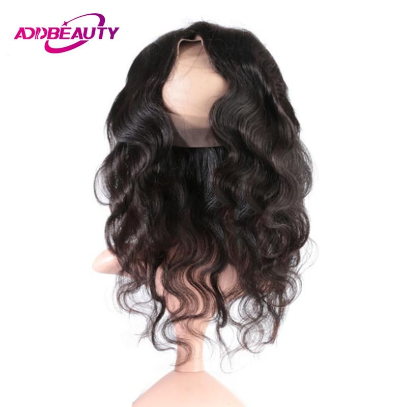 Человеческие волосы бразильские виргинские волосы кружева фронтальное закрытие светлые пучки объемная волна AddBeauty 360 швейцарские