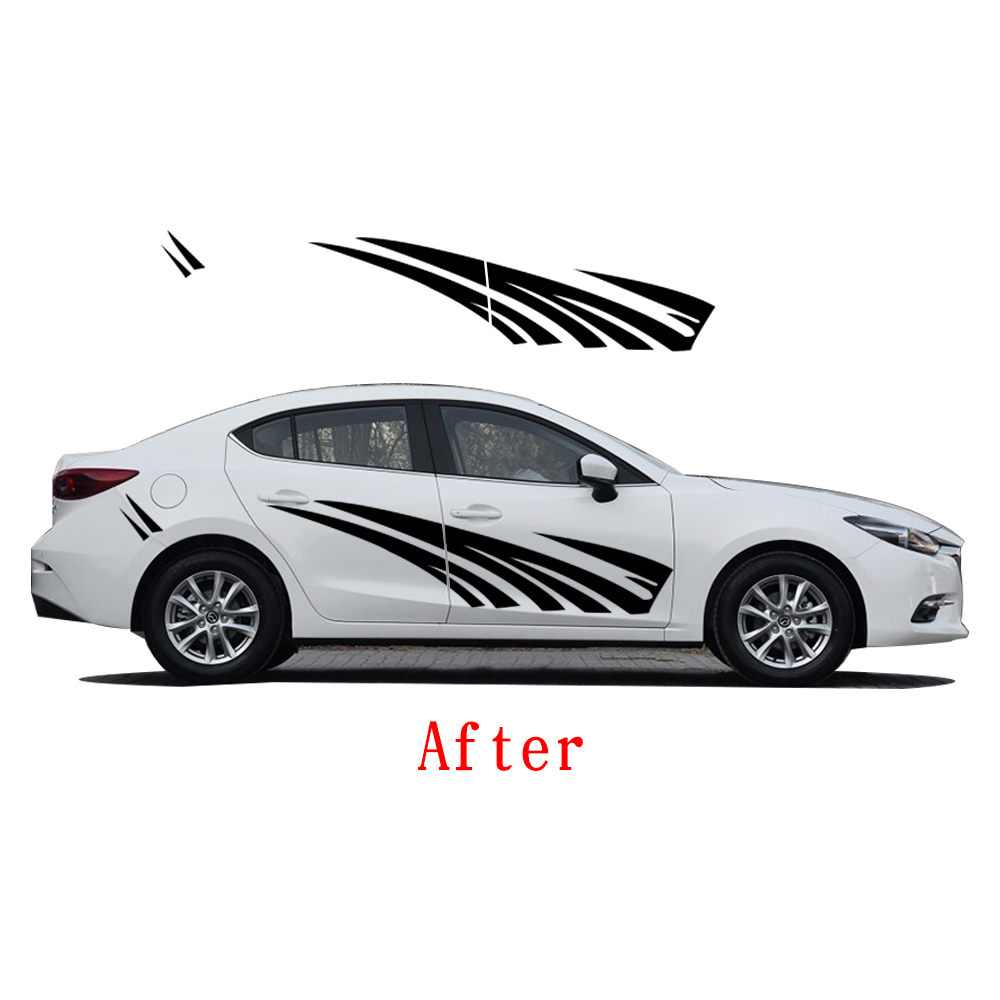 2018 New Personality PVC Sticker Car Styling Auto Part Strips Stickers Car Body Decal For Mazda 3 car accessoriesr car decals for ford focus 2017 new personality car sticker funny diy decal sticker car styling 2 color 2 pcs car accessories