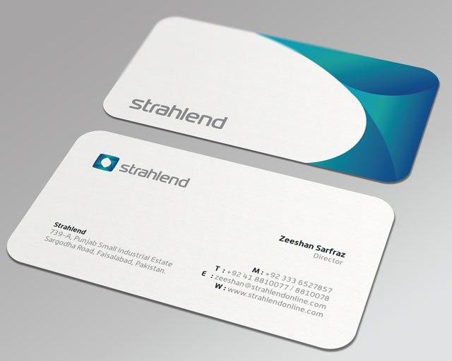 Round Corner Business Cards350gsm Smooth Matt Laminated Art Paper