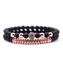 2-piece Energy Gemstone Beads Bracelet