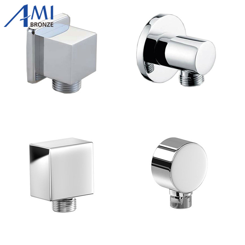 Water Outlet Spout Solid Brass Concealed Shower Plumbing Hose Connector