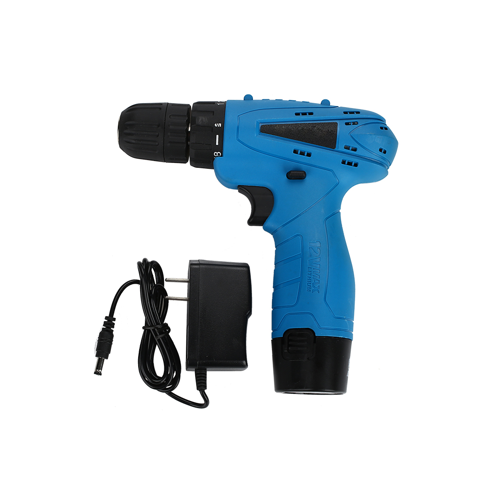 Rechargeable Cordless Drill Electric Screwdriver Set Lithium Power Tools Screw Gun Driver 12V Blue 220V 2018 цена