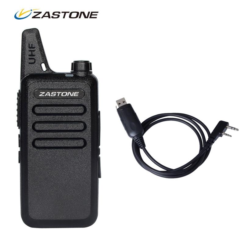 Sales Zastone ZT X6 Mini Walkie Talkie Programming Cable 400 470Mhz Frequency Portable Two Way Radio