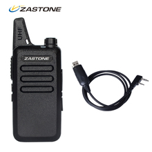 Sales! Zastone ZT-X6 Mini Walkie Talkie + Programming Cable 400-470Mhz Frequency Portable Two Way Radio UHF Handheld Ham Radios