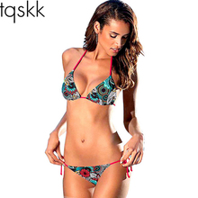 TQSKK 2017 Arrival Sexy Bikinis Women Swimsuit  Swimwear Summer Beach Wear Printed Brazilian Bikini Set Bathing Suits Swim Wear