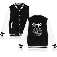 New Heavy Metal Slipknot Letter Jacket Printed Mens Fashion Brand Slipknot Logo Baseball Uniform Casual Band