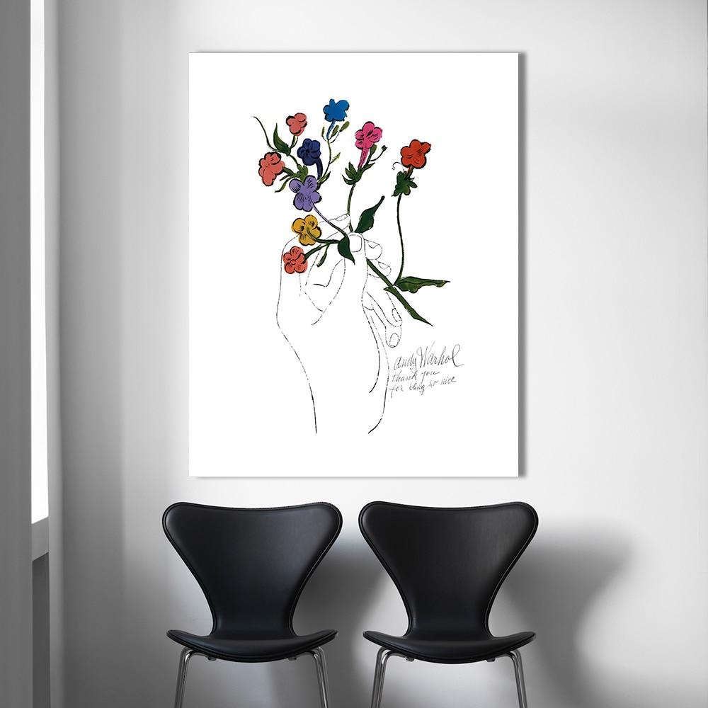HDARTISAN Blume Pop art malerei Andy Warhol Wandbilder Für ...