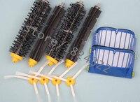 2 blue aerovac filter 2 set main brush kit 4 side brush for irobot roomba 600.jpg 200x200