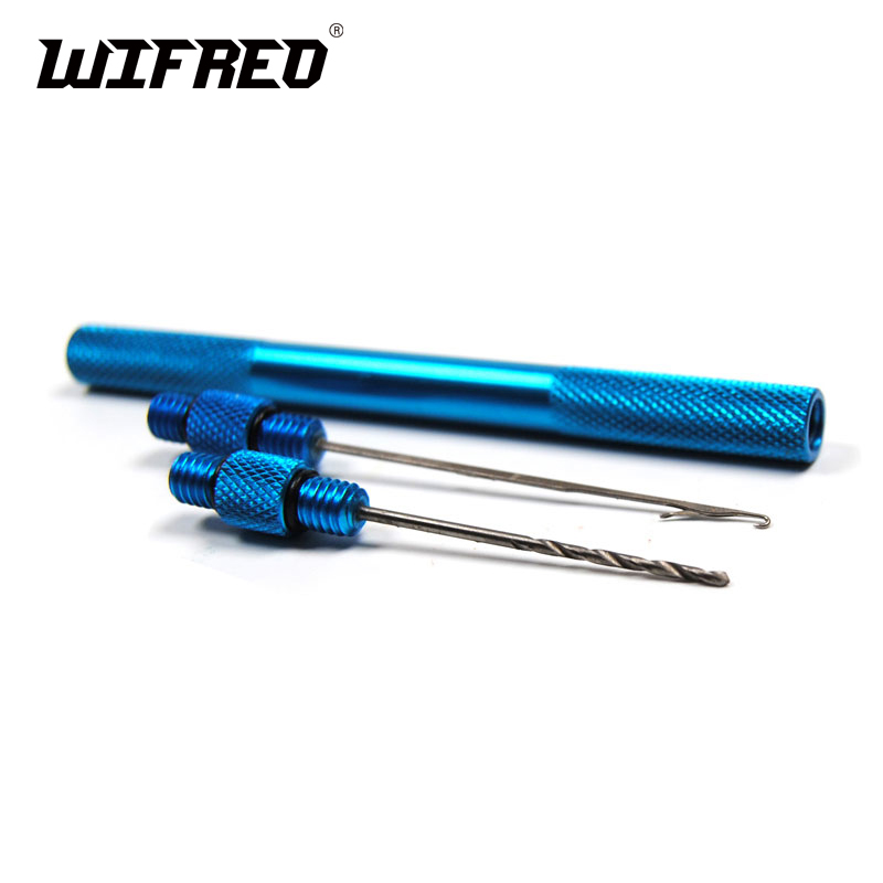 Multiple Color Aluminum Boilie Needle with Drill Carp Fishing Baiting Tool / Hair Rig Fishing Tackle Accessory Tool