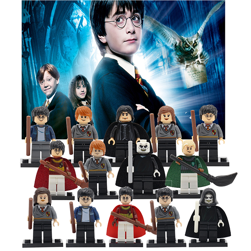 Harry Potter Figures Hermione Ginny Ron Weasley Lord Voldemort Draco Malfoy Luna Snape Building Blocks Toys for Children mb barbell mb barbell 710мм 50мм
