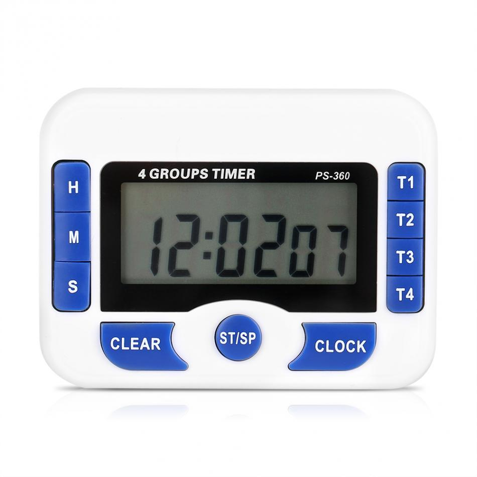 Magnetic Lcd Digital Kitchen Countdown Timer Alarm 4 Channel Game Show Buzzer Electronic Circuits Practical Cooking Clock In Timers From Tools On