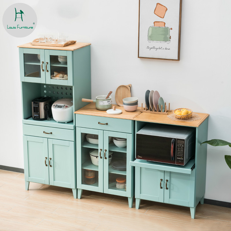 Louis Fashion Solid Wood Dining Side Cabinets Modern