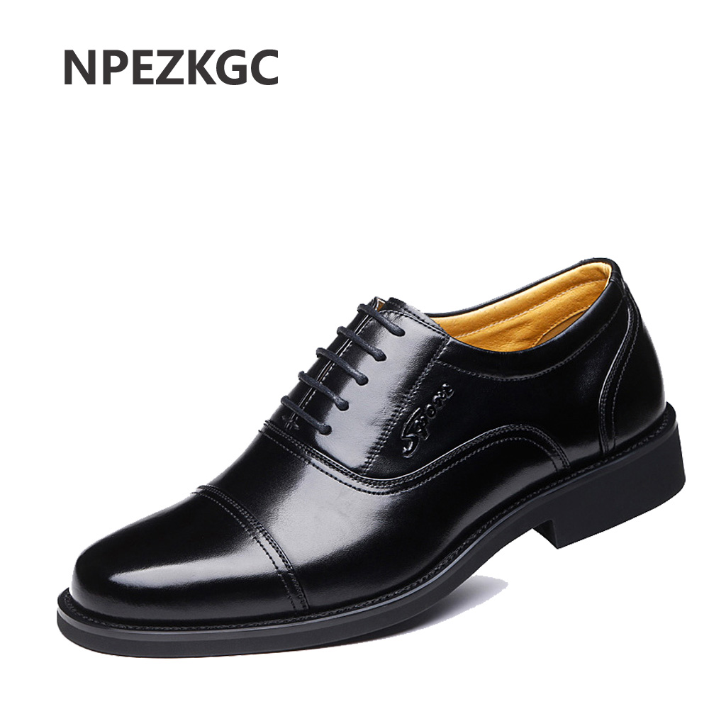NPEZKGC Big size 38 47 Genuine Leather Men Casual Shoes Luxury Brand Men Shoes Leather Shoes