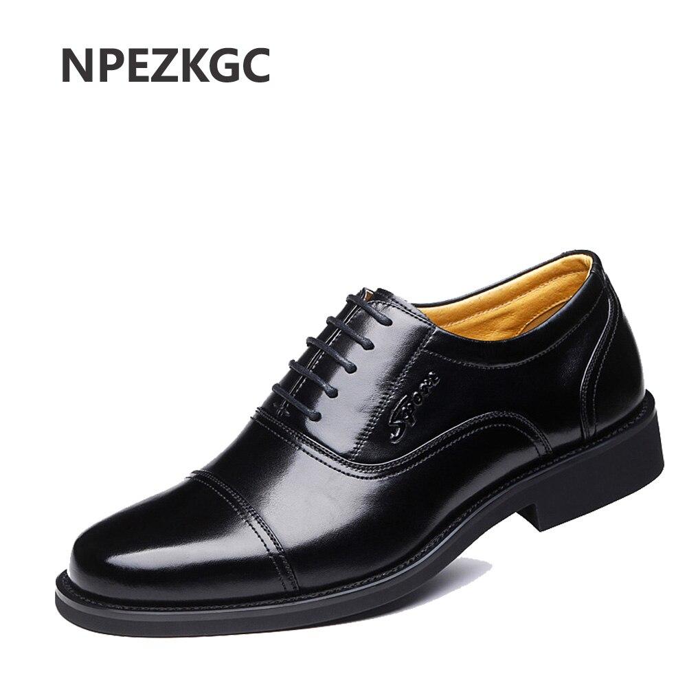Ayakk.'ten Oksford'de NPEZKGC Büyük boy 38 47 Hakiki Deri Erkek rahat ayakkabılar Lüks Marka erkek ayakkabısı deri ayakkabı Erkekler Yüksek Kalite Erkekler Flats'da  Grup 1