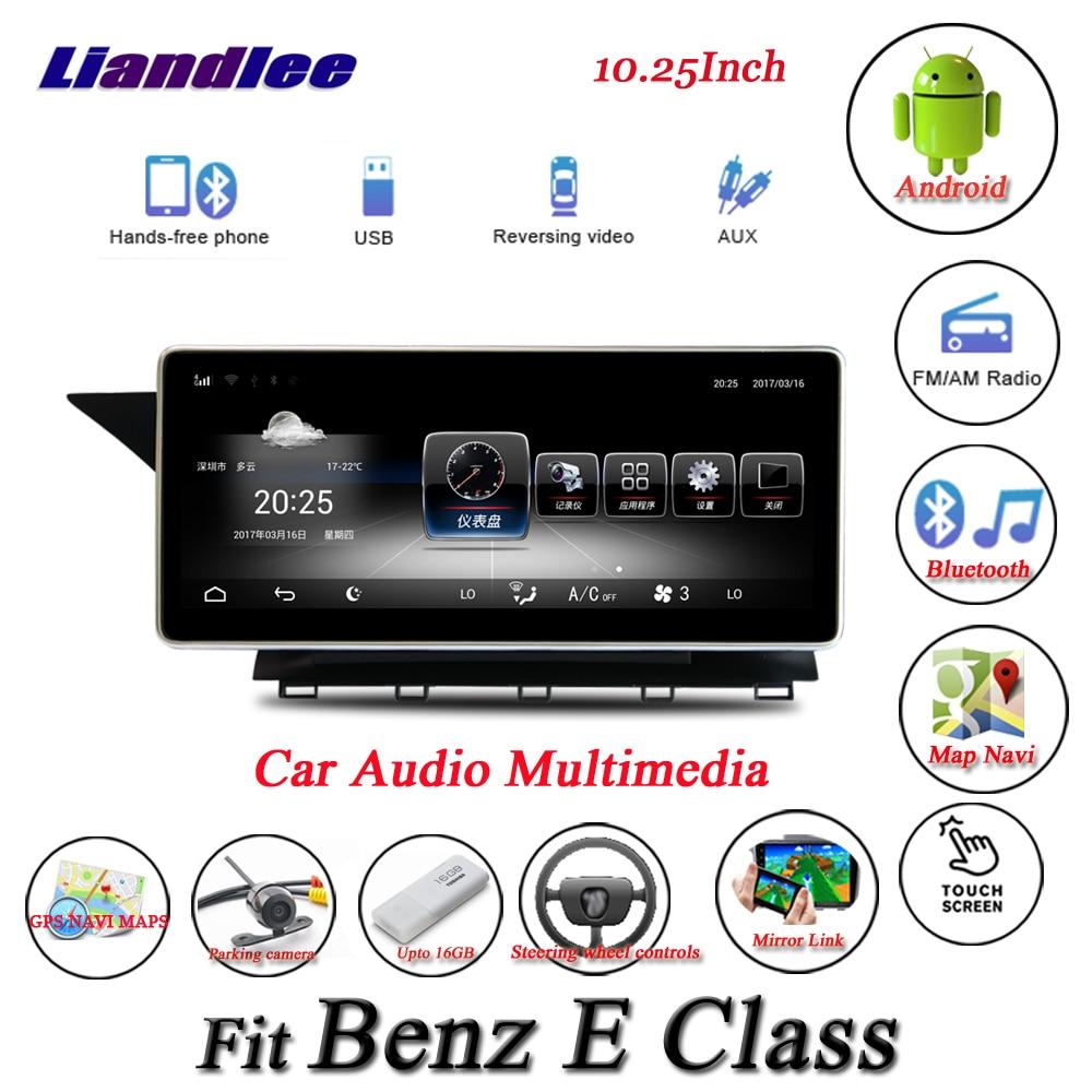 Liandlee Per Mercedes Benz Classe E W212 Android Originale Sistema di Radio Mappa GPS Navi di Navigazione Dello Schermo Multimediale Nessun CD DVD lettore