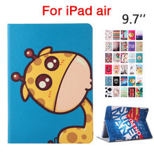 """For iPad air PU Leather Case Cover 9.7"""" Colorful Print Stand Fundas For Apple iPad 5 air 1 Tablet Shockproof Smart Cover Skin"""
