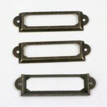 Недорогая бронзовая цветная железная рамка для этикеток 100