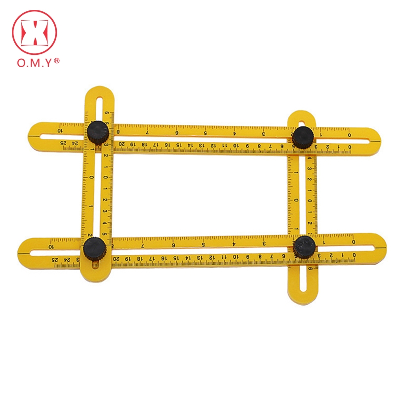 OMY Stainless steel Template Tool Four-sided Measuring Tool Angle Finder Protractor Multi-Angle Ruler Layout omy развивающие игры