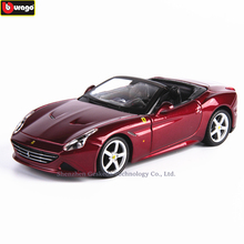 Bburago 1:32 Ferrari California Convert High-imitation Car Model Die-casting Metal Toy Gift Simulated Alloy Collection