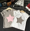 Lovely Girls Summer T-shirts Children Short Sleeve Cute Fashion Baby Geometric Star Pattern Tees Cotton Kids Clothing 5pcs/LOT