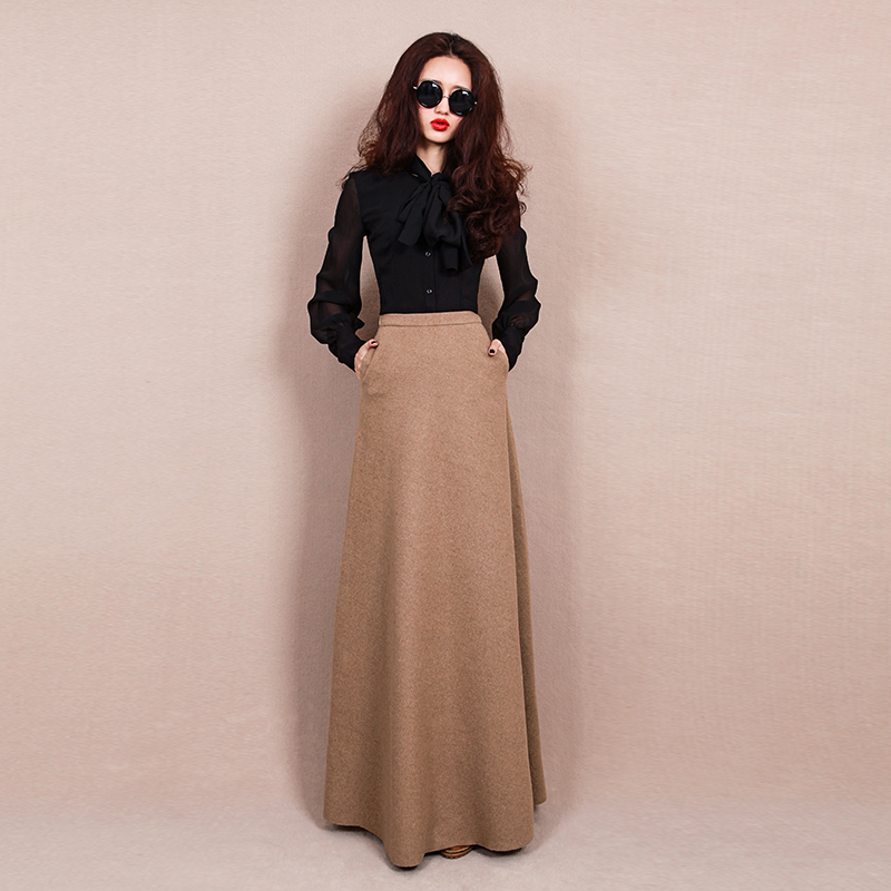 Compare Prices on Long Wool Skirts- Online Shopping/Buy Low Price ...