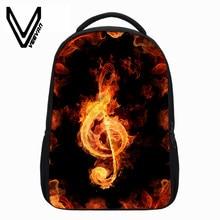 4a3fa2ddb2 VEEVANV New Flame Music Mark Children Backpacks Flame Printing School  Bookbag Teenagers Boys Skull Rose Flower