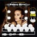 Голливудский стиль косметическое зеркало лампочки комплект USB/EU/US Зарядка Настольная Косметическая лампа Регулируемый макияж свет