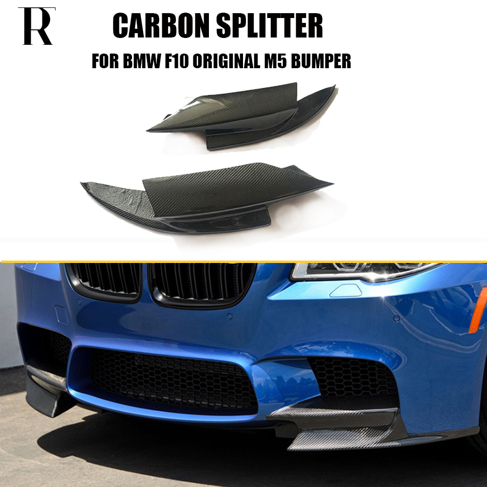 F10 M5 Carbon Fiber Front Bumper Side Splitter Apron for BMW F10 M5 Bumper Only 2010 2011 2012 2013 2014 2015 2016