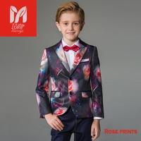 2017 Детские комплекты одежды для отдыха для маленьких детей костюмы для мальчиков Пиджаки для женщин жилет праздничная одежда джентльмена д