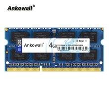 Ankowall DDR3 SO-DIMM 4 Гб Оперативная память 1333/1600 МГц Тетрадь памяти PC3-10600 ноутбук Оперативная память