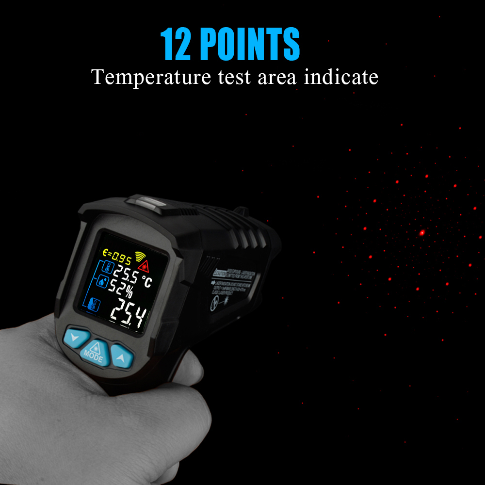 Image 3 - RICHMETERS 550PRO Digital infrared Thermometer laser Temperature  Gun Colorful LCD Screen Pyrometer High/Low AlarmTemperature  Instruments   -