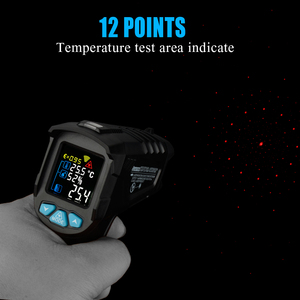 Image 3 - RICHMETERS 550PRO דיגיטלי מדחום אינפרא אדום לייזר termometro infrarojo Pyrometer גבוהה/נמוך אזעקה