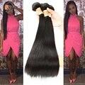 7A Não Transformados cabelo cambojano Virgem Cabelo Liso Cabelo Humano Cambojano Cabelo Cambojano Reta Virgem Do Cabelo 4 Pacotes Em Linha Reta