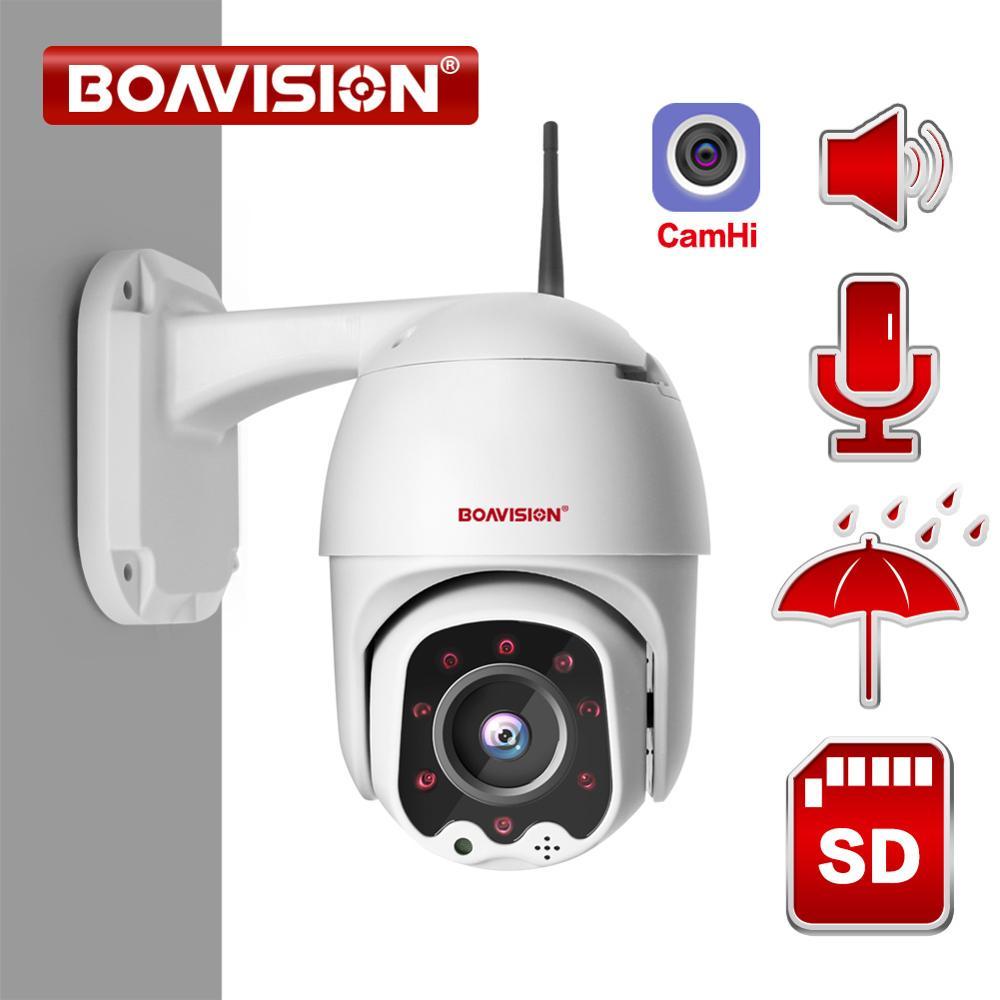 1080P sans fil MINI PTZ IP WIFI caméra vitesse dôme 2MP CCTV sécurité IP caméra ONVIF extérieur IR 30M Audio bidirectionnel P2P APP CamHi