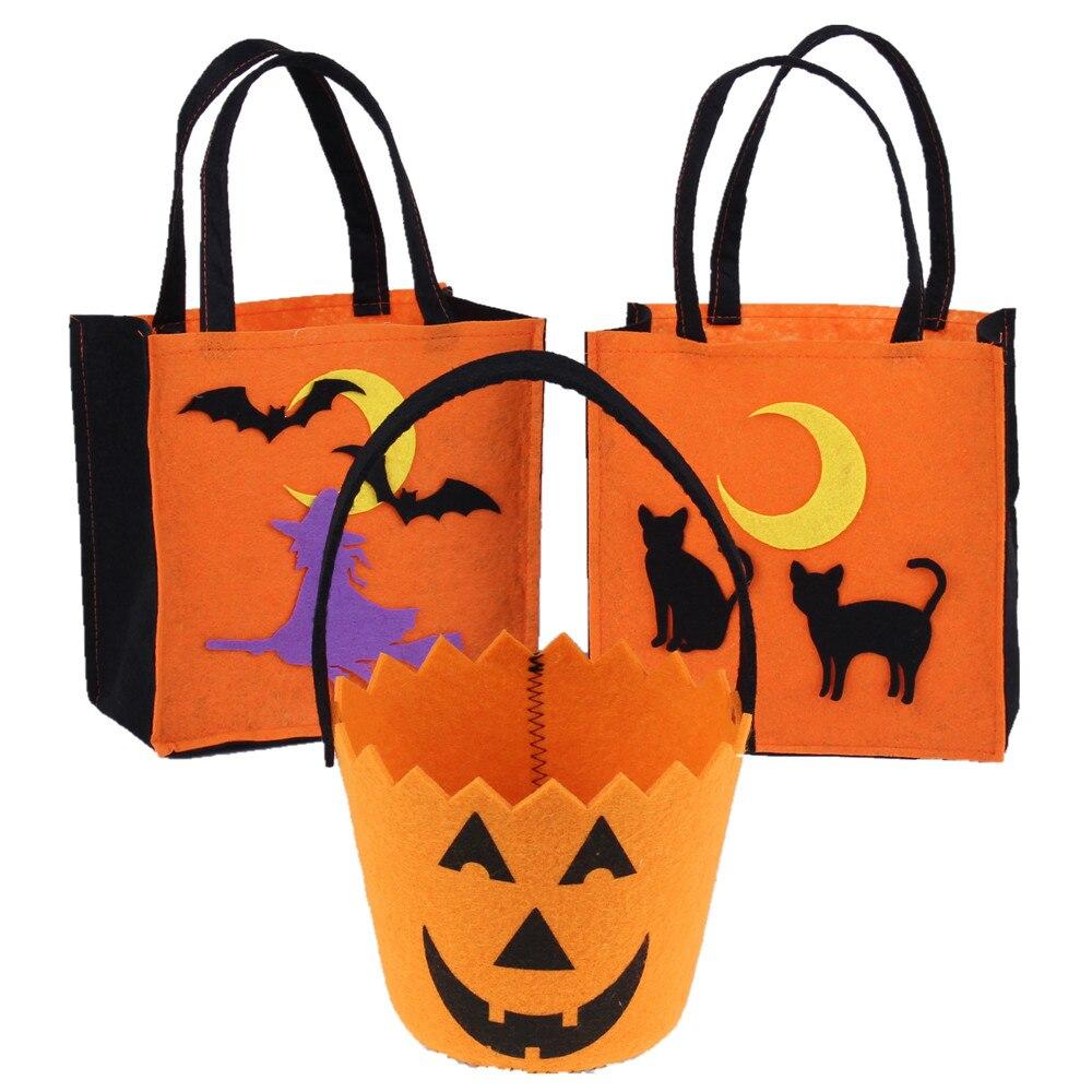 3pcs lot Non-Woven Halloween bombona torba pauk šišmiš mačka - Za blagdane i zabave - Foto 2