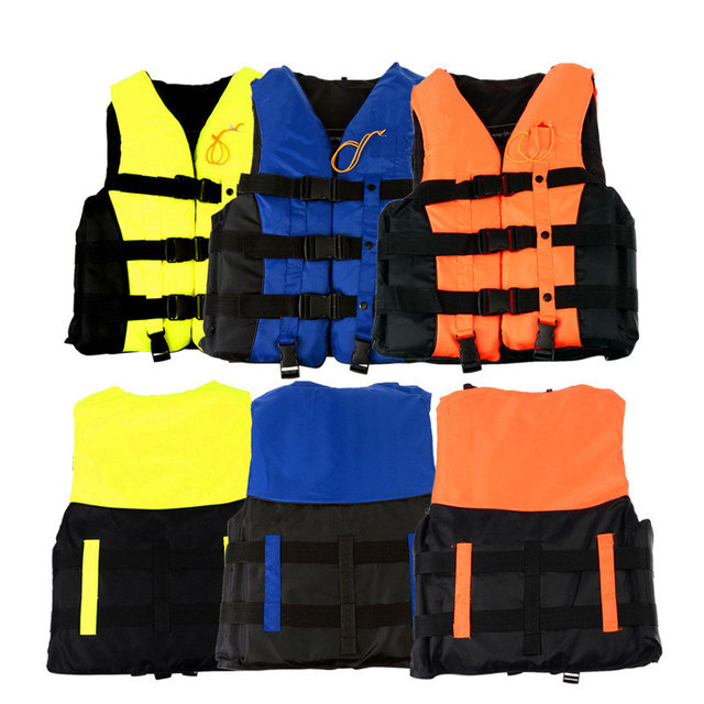 XL EPE Adult Swimming Boating Surfing Sailing Polyester Foam Life Jacket Vest Whistle Prevention Flood With Stride Across Zone
