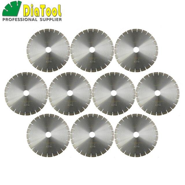 "DIATOOL 10pcs 14"" Diamond Silent Saw Blade Sandwich Steel Core Cutting Disc Bore 50mm Granite Blade Diamond Wheel Disk"