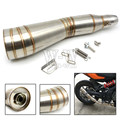 Universal acessórios da motocicleta tubo de escape para yamaha r1 r3 yzf1 yzf6 xj6 xjr1300 mt 07 09 yzf r6 07 09
