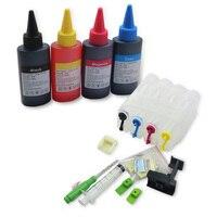 공장 도매 diy 4 색 재충전 용 ciss + 400 ml 잉크 피팅 캐논 시리즈 모든 프린터에 사용하기위한 전체 액세서리