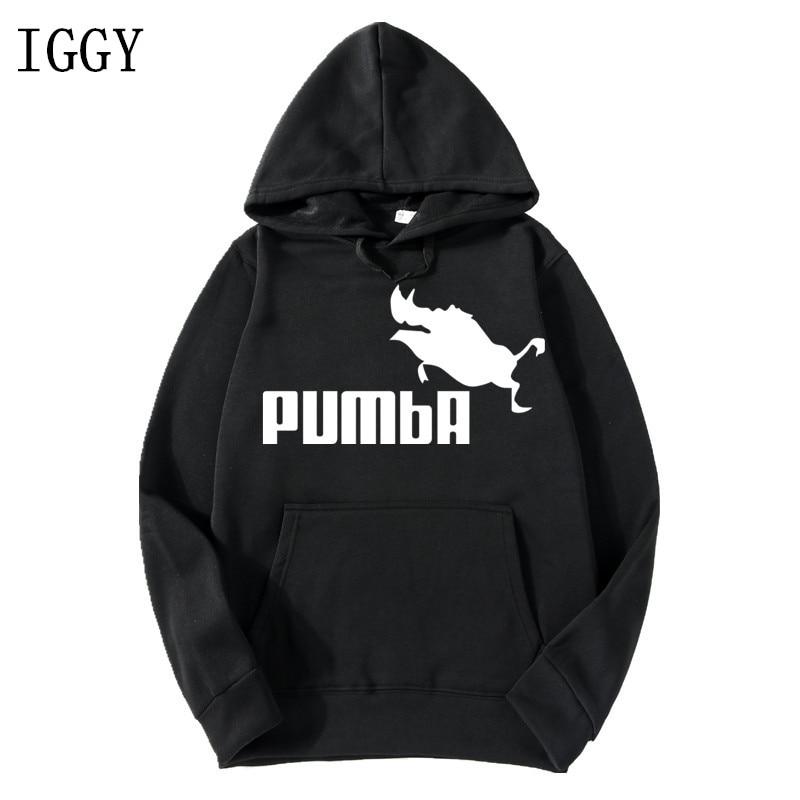 IGGY Autumn Winter Men Hoodies Simba Pumba Drake Hooded Sweatshirts Streetwear Custom High Quality Long Sleeve Hoodies Clothing